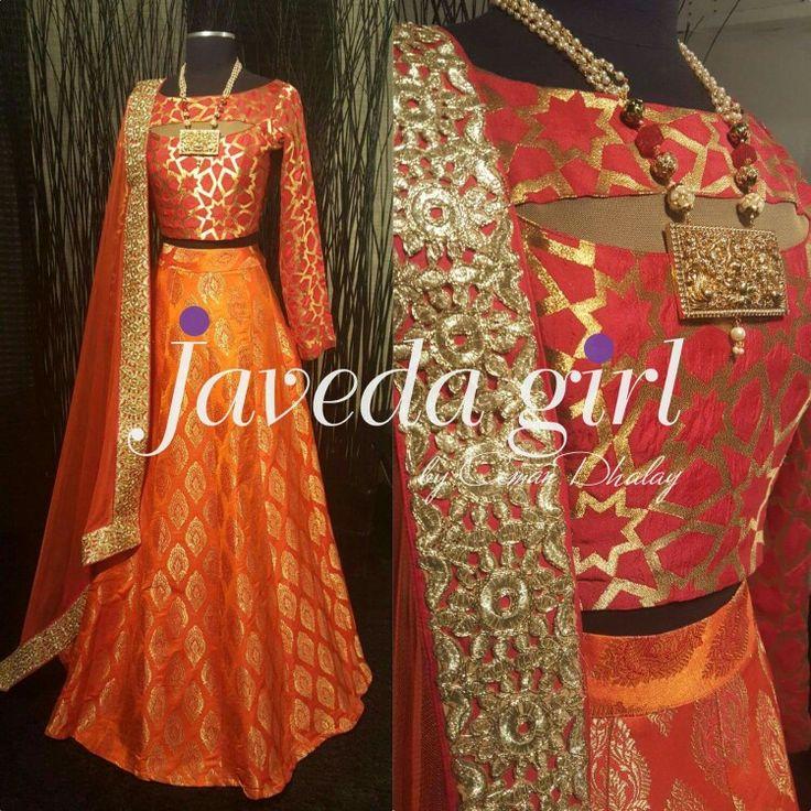Rich, rustic orange ●#Javedagirl #readytowear www.javeda.com
