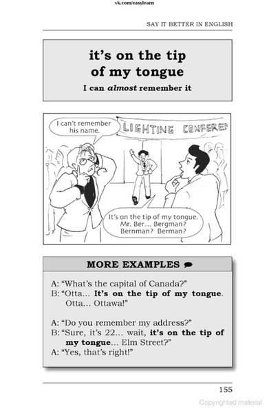 Idiom It's on the tip of my tongue