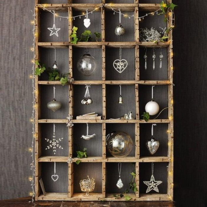 Liegt noch irgendwo ein alter Setzkasten herum? Füll' diesen dann mit hübschen Dekorationen aus der Wintersaison……8 Beispiele! - DIY Bastelideen