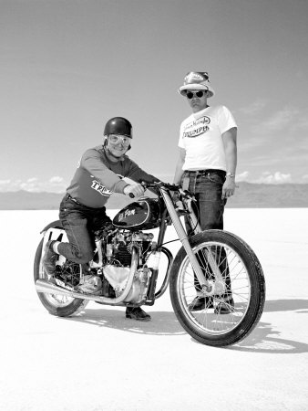 Vintage Triumph at Bonneville