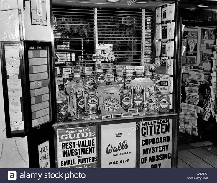 Newsagents/Confectioners, Willesden, London, circa 1960