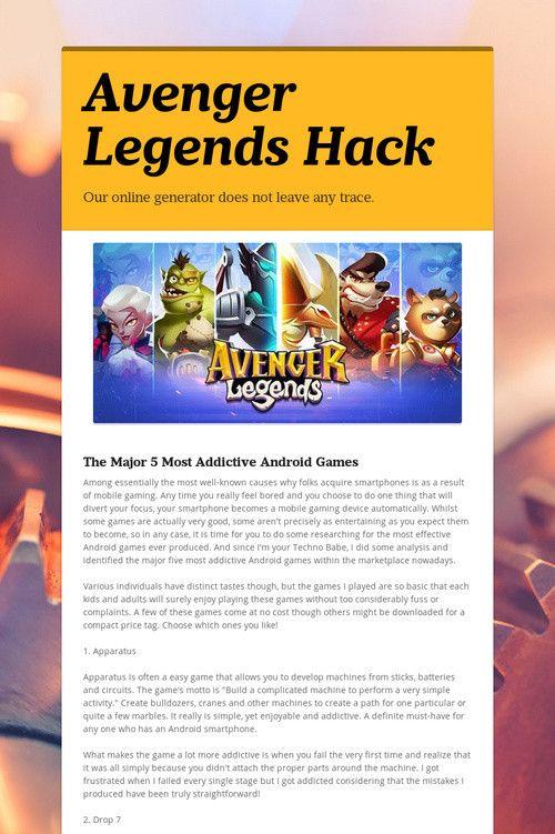 Avenger Legends Hack