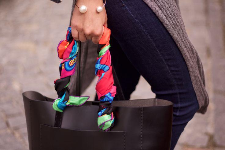 #bag #coccinelle #scarf #hermes #bracelet #pearls