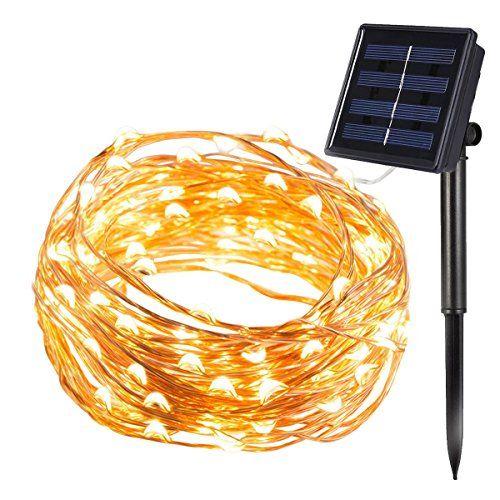 1000 id es propos de guirlande solaire sur pinterest for Lumiere exterieur sur fil