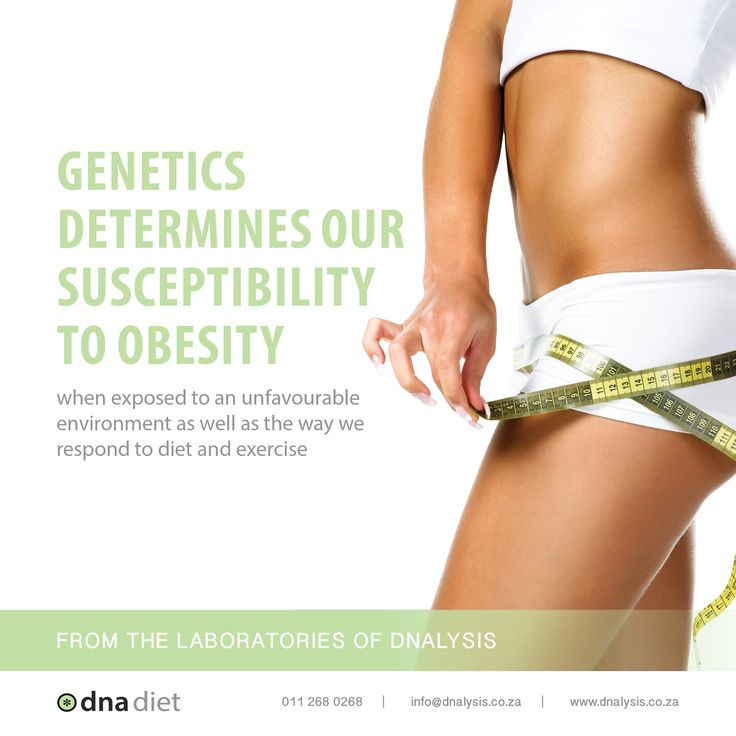 Genetics determines our susceptibility to obesity when exposed to an unfavourable environment as well as the way we respond to diet and exercise.  #dnalysis #dnadiet