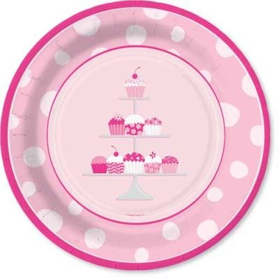Pink Cupcake Plates Kid Party Ideas Pinterest Paper