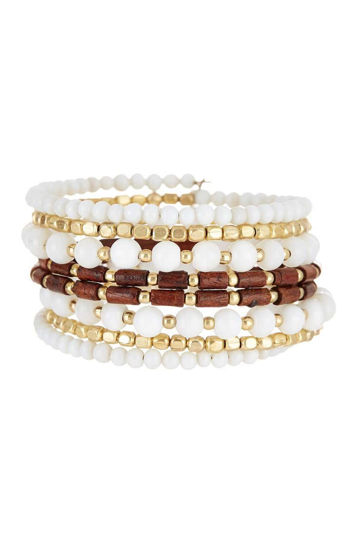 Wood & Bead Coil Bracelet by Madison Parker on @nordstrom_rack
