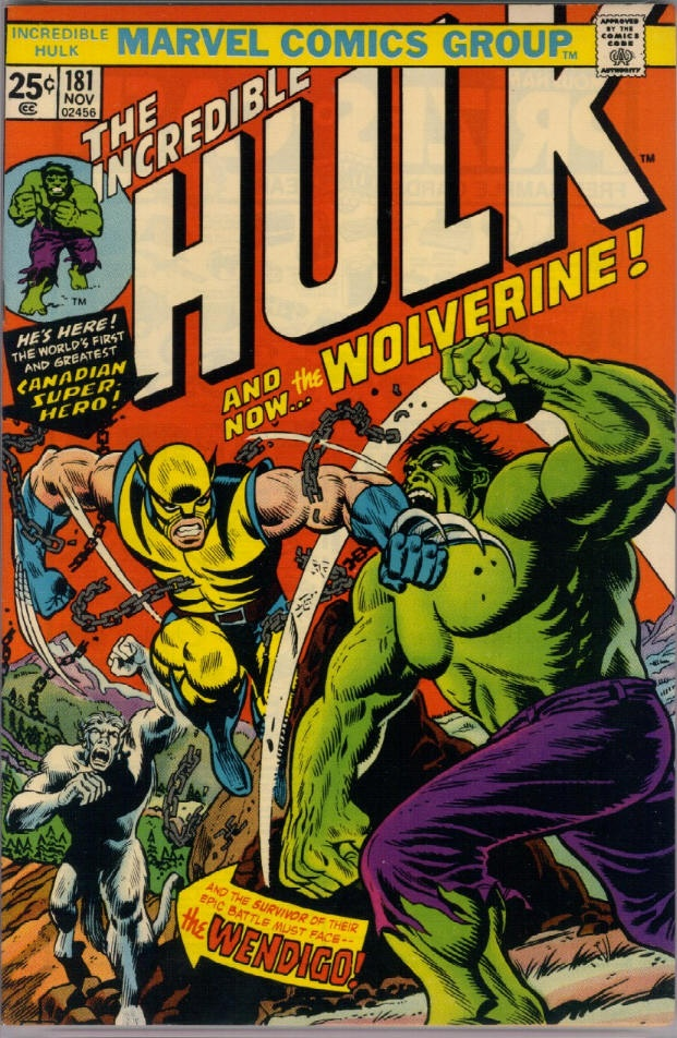 The Incredible Hulk #181  Another classic comic cover these all seem to look quite similar in style and they seemed to follow the same colours and styles for each comic but it is appealing but does look old.