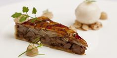 George Blogg's inventive pig cheek recipe presents this undervalued cut of meat in a gourmet tart, serving with a cheeky scoop of pear sorbe...