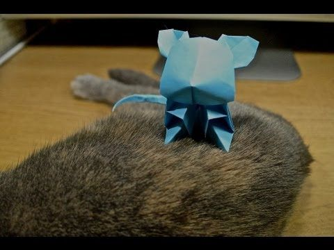 Jacky Chan Origami Cute Mouse - YouTube