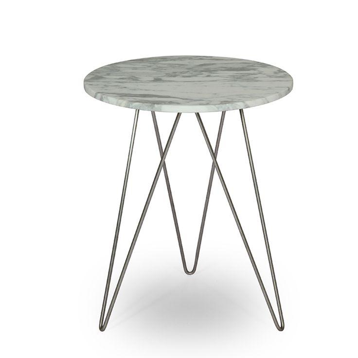 Walnut And Metal Side Table | Pfeifer Studio
