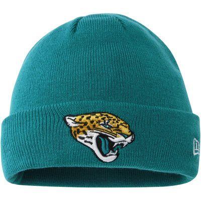 New Era Jacksonville Jaguars Teal Solid Cuffed Knit Hat