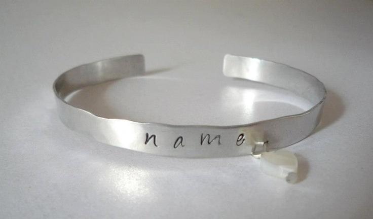 Plain Personalised Aluminium Cuff bangles - The Supermums Craft Fair