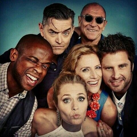 The Cast Of #Psych James Roday, Dule Hill, Maggie Lawson, Kirsten Nelson, Corbin Bernsen