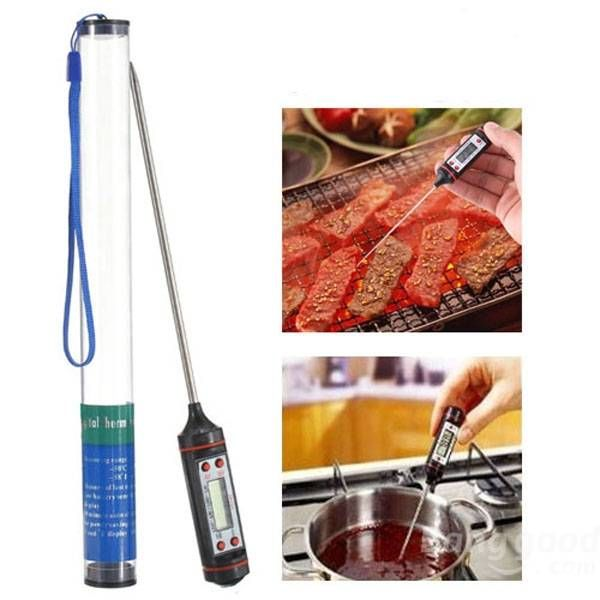 Food Probe Meat Digital Cooking BBQ Thermometer Kitchen - US$3.99