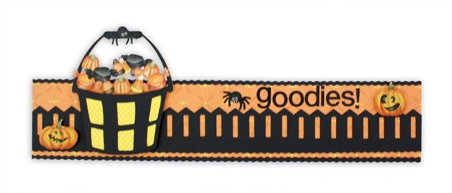 Classic Halloween Stickers Scrapbooking Border Layout Idea