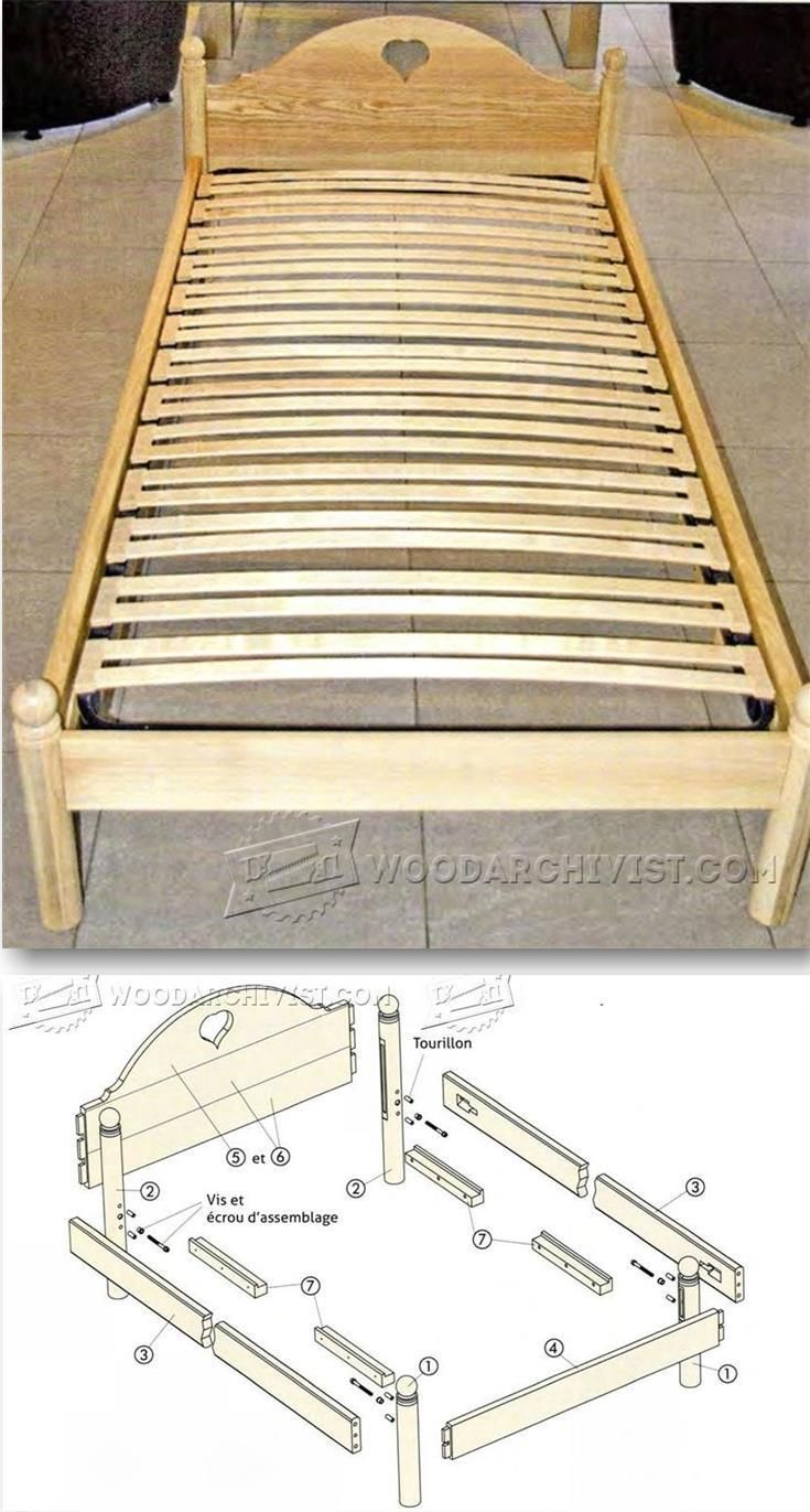 Single Bed Plans - Furniture Plans and Projects   WoodArchivist.com