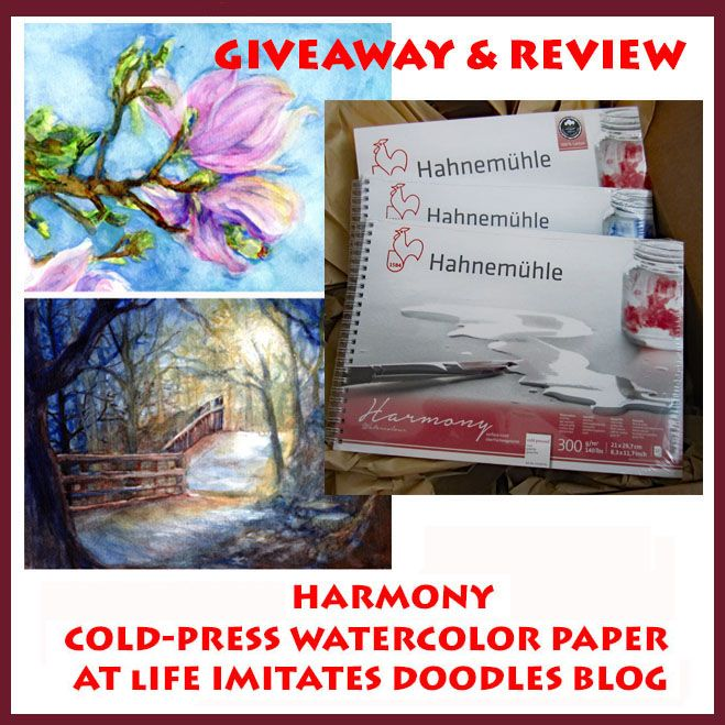 Review And Giveaway Hahnemuhle Harmony Cold Pressed Watercolour