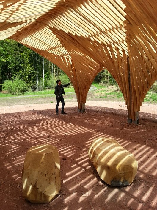 Gallery of Creation of a Forest Shelter at Bertrichamp / Studiolada Architectes…