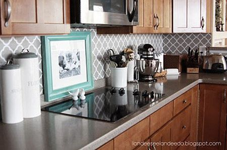 Kitchen backsplash, pantry or bathroom upgrade - vinyl quatrefoil design -. $5.50, via Etsy. - Love these creative girls!