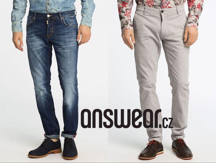 Kalhoty prý dělají muže. Tedy, pánové, který typ preferujete? #trousers #jeans #answear #question   Džíny: http://answear.cz/dziny-233-k.html  Plátěné a ostatní: http://answear.cz/kalhoty-237-k.html