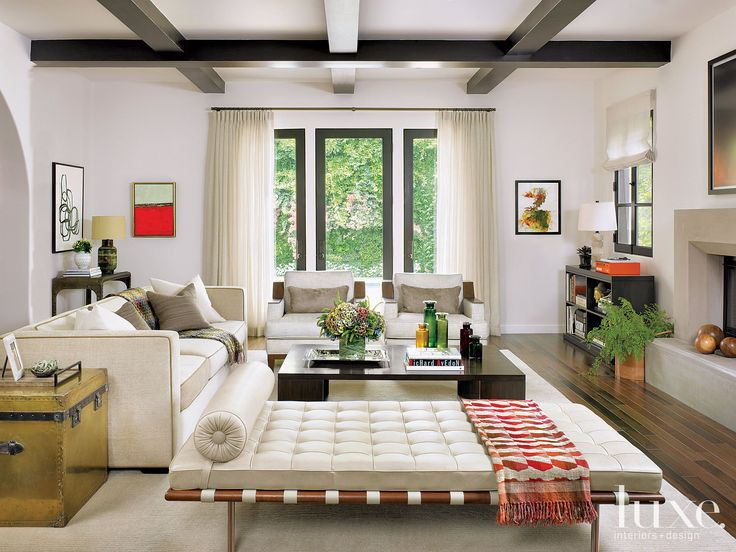 Luxe Magazine Spanish Bungalow Living Room