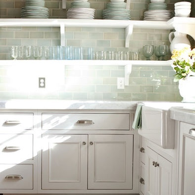 Sea Glass Tile Backsplash Design, Pictures, Remodel, Decor and Ideas - page 2: for kitchen backsplash