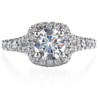 Acclaim Solitaire  The glorious diamond encrusted band and crown create a perfect setting for the Hearts On Fire diamond. Available in 18 kt white gold and platinum. http://www.heartsonfire.com/Shop-Jewelry/Rings/Engagement-Rings/AcclaimSolitaire.aspx