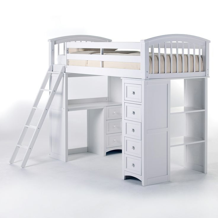 Ne Kids School House Student Loft Bed White Bunk Beds At Hayneedle