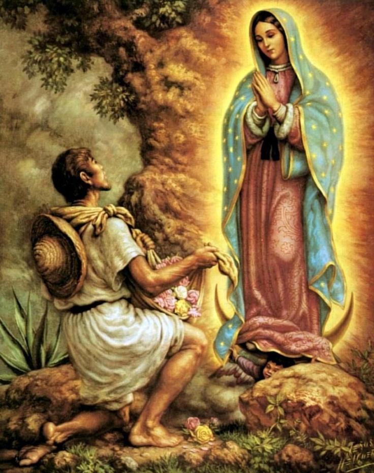 Juan Diego y la Virgen de Guadalupe