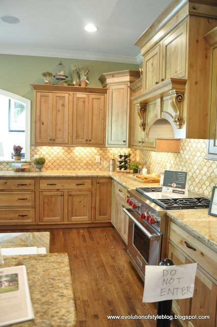 natural maple kitchen