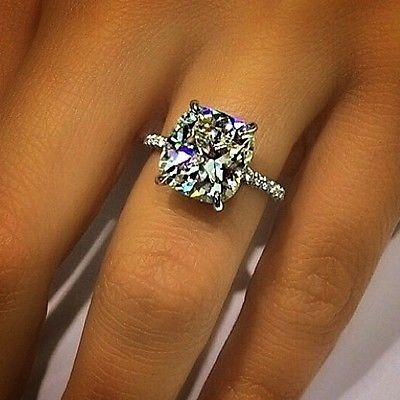 1.10 Cushion Cut Pave Engagement Ring - GIA CERTIFIED & APPRAISED in Jewelry & Watches, Engagement & Wedding, Engagement Rings | eBay