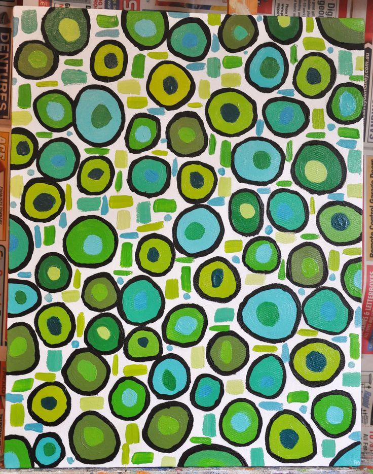 Circled 1 - part of an abstract acrylic series  Leesa Clarkson