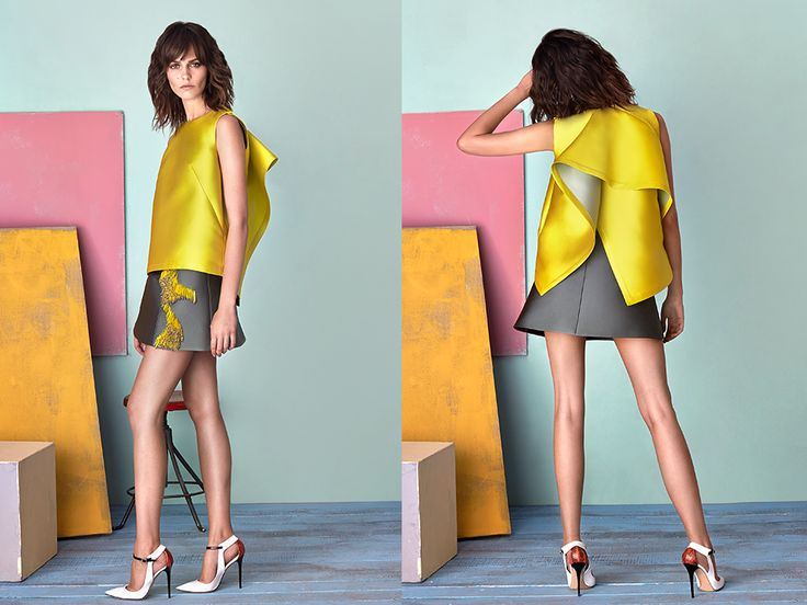 Mari lemon top! Wear it with high-waisted skirt or trousers to get the ultimate look!  #LaMania