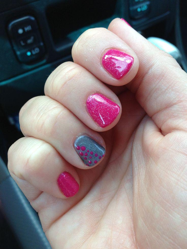 summer shellac nails