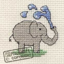 Mouseloft Stitchlets Playful Elephant Cross Stitch Kit
