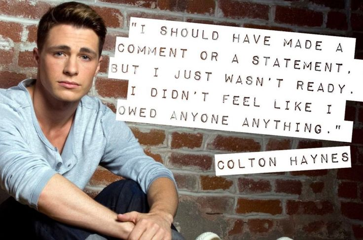 Colton Haynes Comes Out: Celebs And Thirsty Fans Flood Social Media With Love And Support – The Gaily Grind