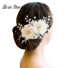 haj díszek esküvői haj tartozékok virágos fejdísz Romantikus csipke Hairwear virág esküvő menyasszony haj tartozékok menyasszonyi (Kína (szárazföld))
