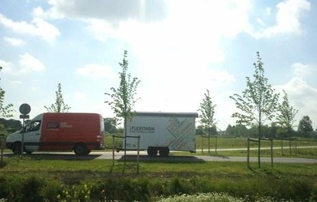 De Mobiele Flexitaria op weg naar Landgoeddag Haarzuilens, 10 juni 2012.