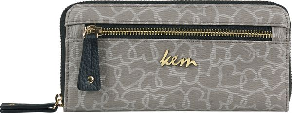 Kem wallet passion in taupe and light grey color at Papa k' Froufrou.