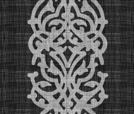 arabesque_linen_dark fabric by chicca_besso on Spoonflower - custom fabric