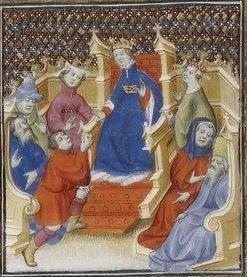 Giovanni Boccaccio, De Claris mulieribus; Paris Bibliothèque nationale de France MSS Français 598; French; 1403, 146r. http://www.europeanaregia.eu/en/manuscripts/paris-bibliotheque-nationale-france-mss-francais-598/en