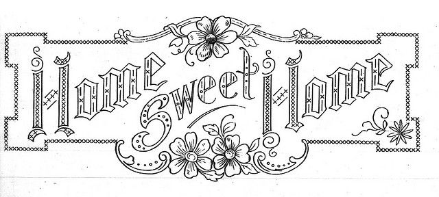 Home sweet home embroidery. this would make a pretty pillow! - possible pattern for thumb tack art
