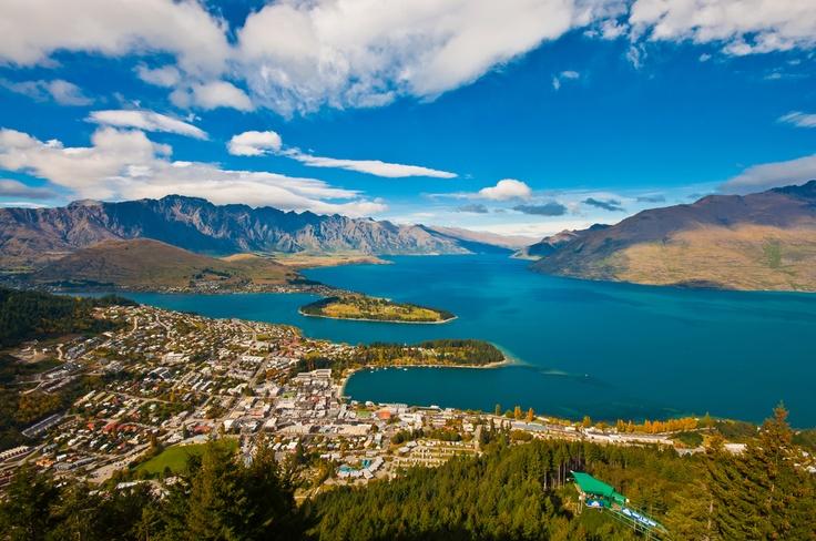 Queenstown, Nova Zelândia, capital mundial dos esportes radicais.