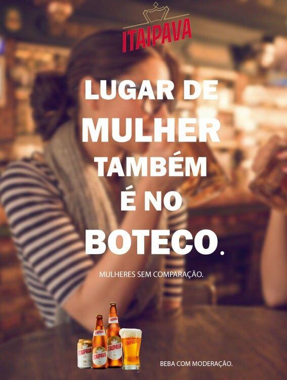 Mulheres sem comparação é uma campanha fictícia criada para a cerveja Itaipava com o mote feminista. Essa é uma das diversas peças realizadas na cadeira de Criação Publicitária.