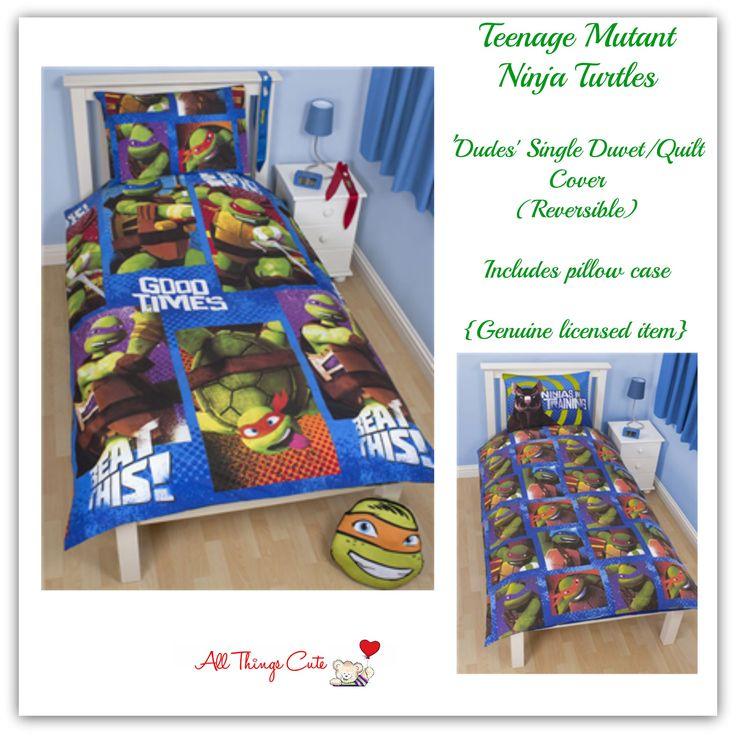 Teenage Mutant Ninja Turtles 'Dudes' Duvets/Quilts/Doonas  Single | Polyester | Reversible #TMNT #turtles #bedding