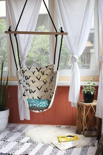 chaise hamac, décoration, DIY, hamac  http://www.kavehome.fr/blog/DIY-Chaise-Hamac/