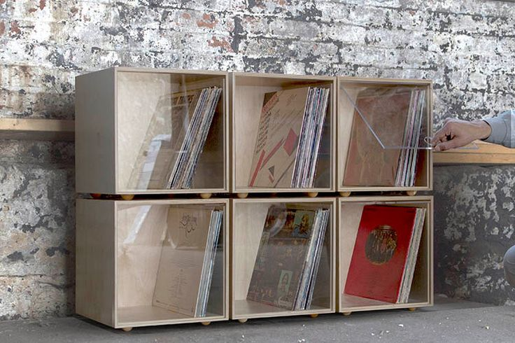 Stackable Storage Cube - Clear- Vinyl LP Record Storage by SimpleWoodGoods on Etsy https://www.etsy.com/listing/285697105/stackable-storage-cube-clear-vinyl-lp