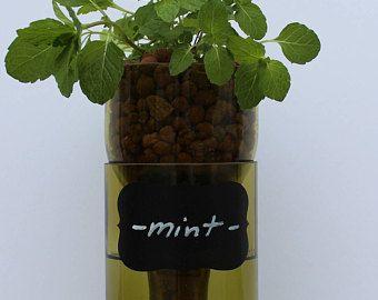 Vin bouteille auto arrosage jardinière (Hydro planteur) 1,5 litre (magnum) recyclé bouteille de vin - jaune d'or