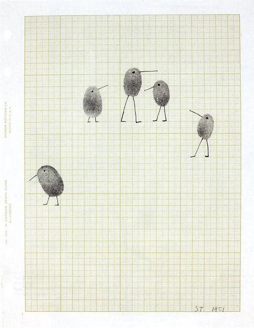 :: Saul Steinberg's fingerprint birds, 1951 ::